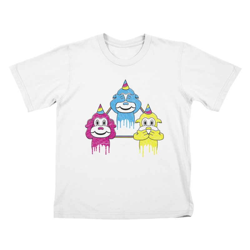 Wise Monkeys Kids T-shirt by rskamesado's Artist Shop