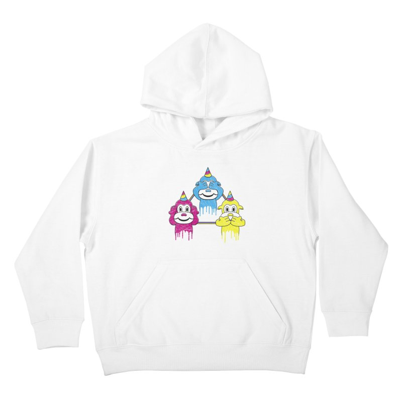 Wise Monkeys Kids Pullover Hoody by rskamesado's Artist Shop