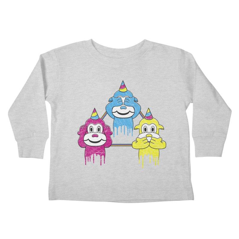 Wise Monkeys Kids Toddler Longsleeve T-Shirt by rskamesado's Artist Shop