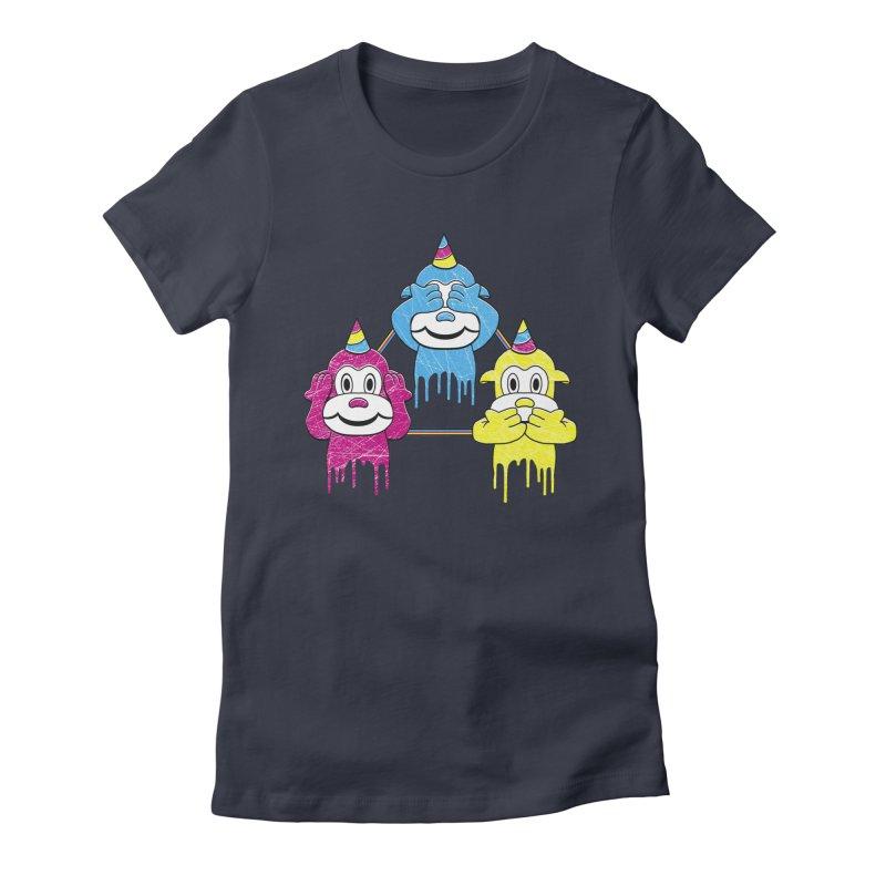 Wise Monkeys Women's Fitted T-Shirt by rskamesado's Artist Shop