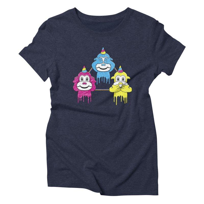 Wise Monkeys Women's Triblend T-shirt by rskamesado's Artist Shop