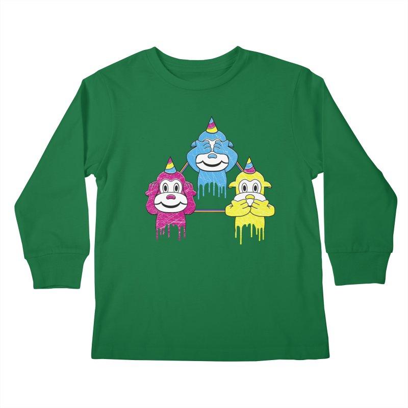 Wise Monkeys Kids Longsleeve T-Shirt by rskamesado's Artist Shop