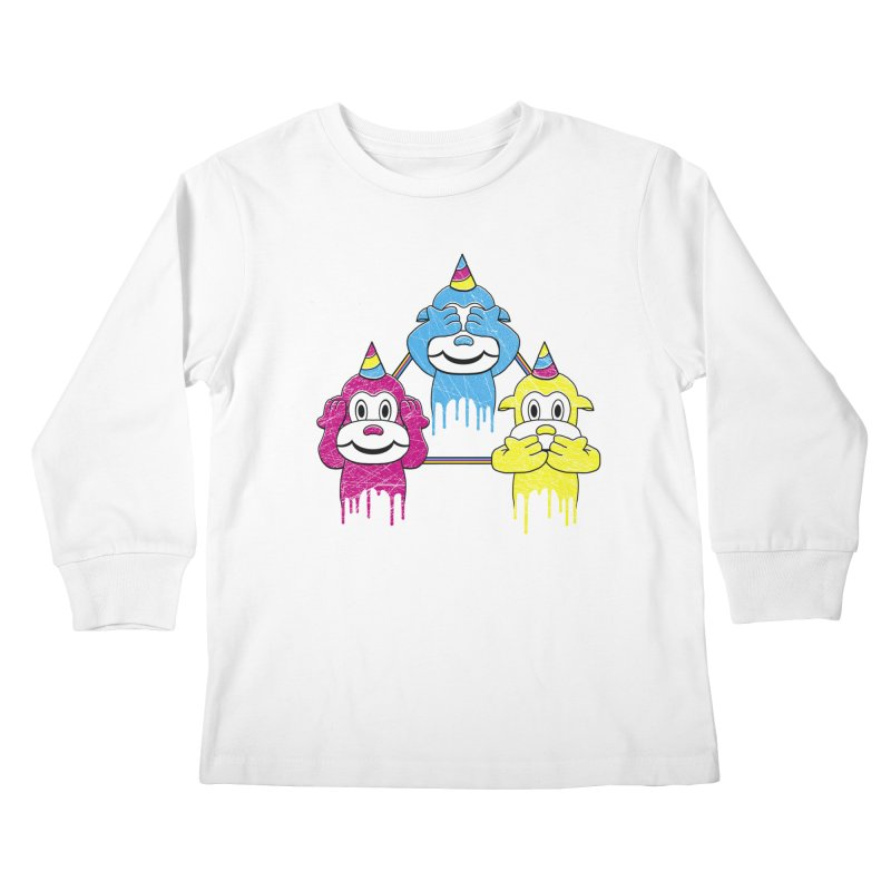 Wise Monkeys Kids Longsleeve T-Shirt by rskamesado's Artist Shop