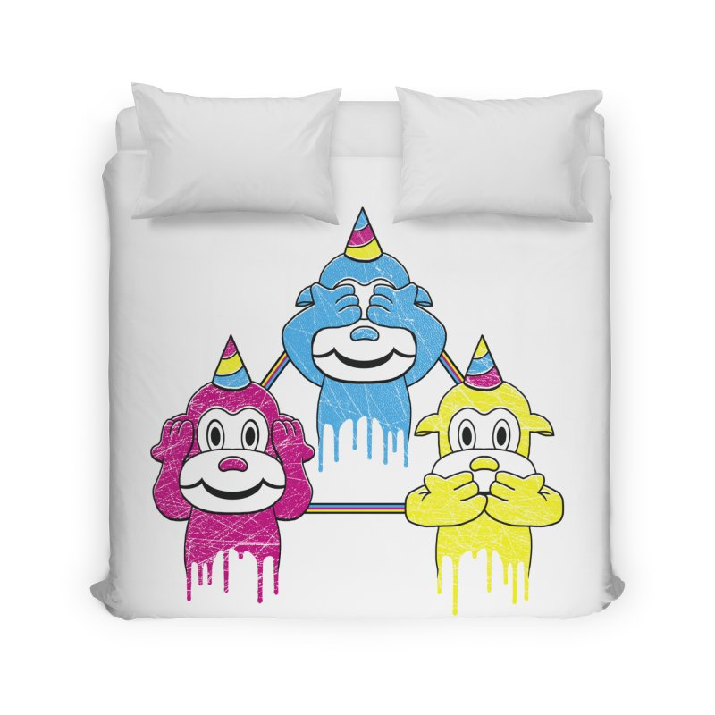 Wise Monkeys Home Duvet by rskamesado's Artist Shop