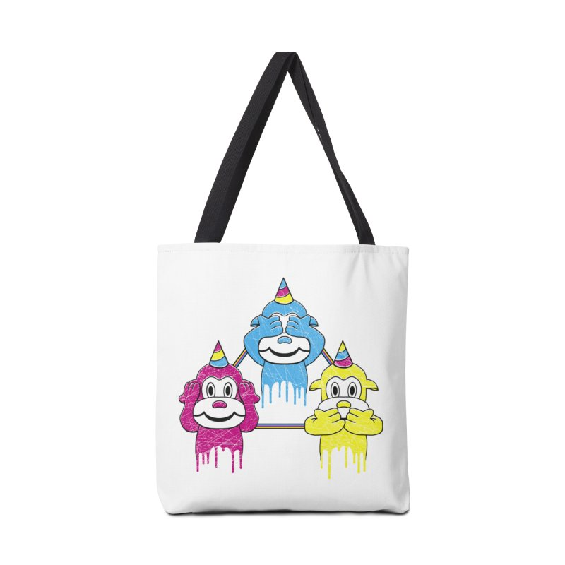 Wise Monkeys Accessories Bag by rskamesado's Artist Shop
