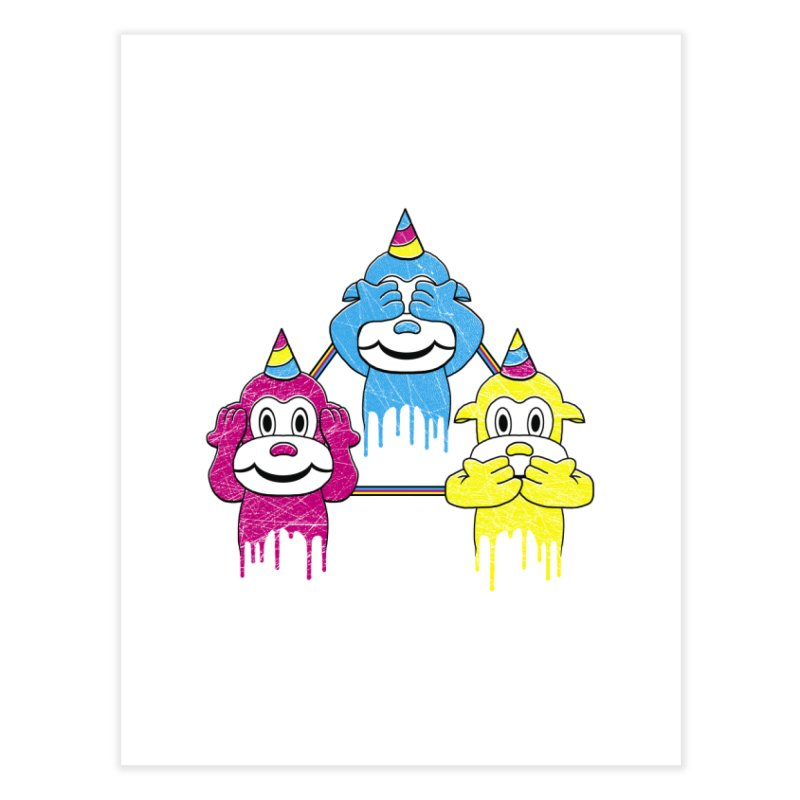 Wise Monkeys Home Fine Art Print by rskamesado's Artist Shop
