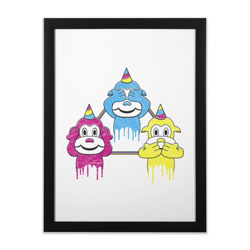 Wise Monkeys Home Framed Fine Art Print by rskamesado's Artist Shop