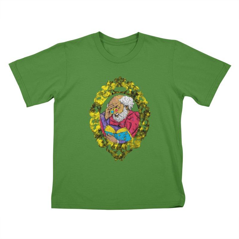 Reading in 3D Kids T-Shirt by rskamesado's Artist Shop