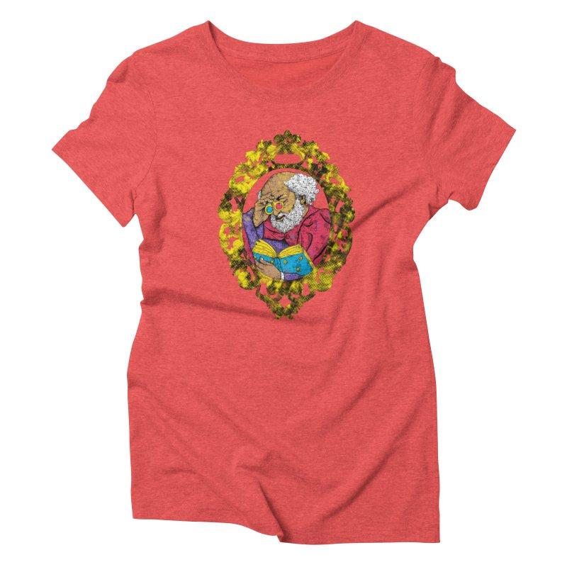 Reading in 3D Women's Triblend T-shirt by rskamesado's Artist Shop