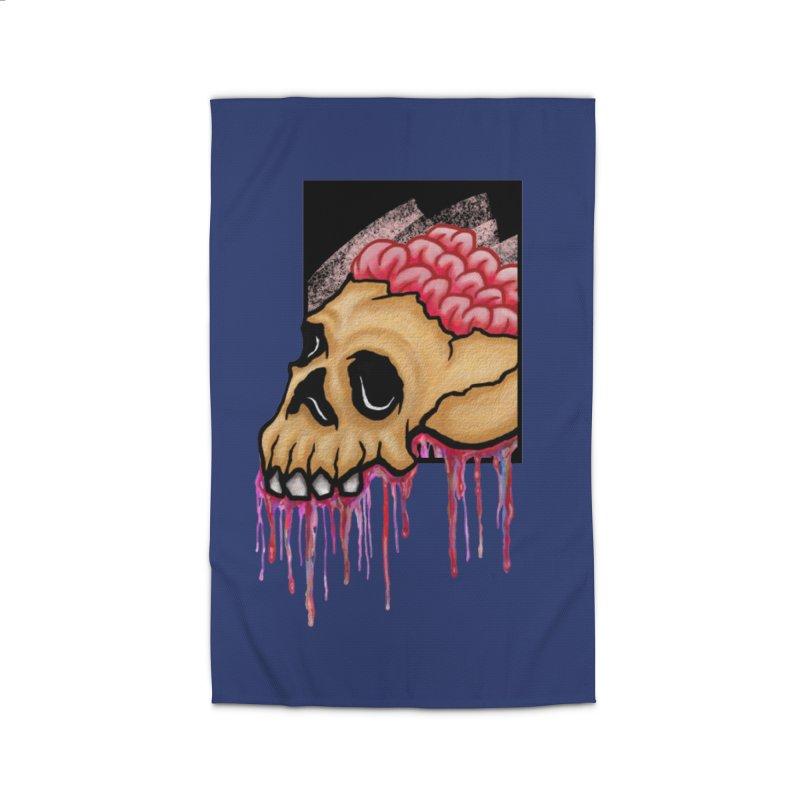 Skull and Brain Home Rug by rskamesado's Artist Shop