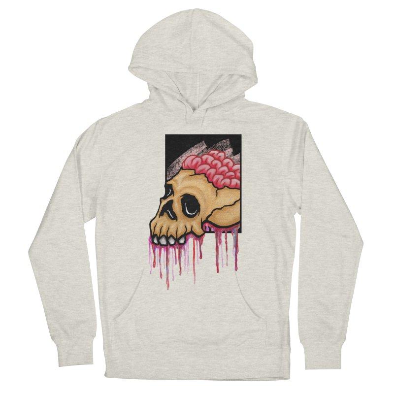 Skull and Brain Women's Pullover Hoody by rskamesado's Artist Shop