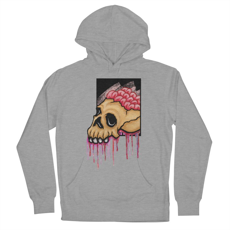 Skull and Brain Men's Pullover Hoody by rskamesado's Artist Shop