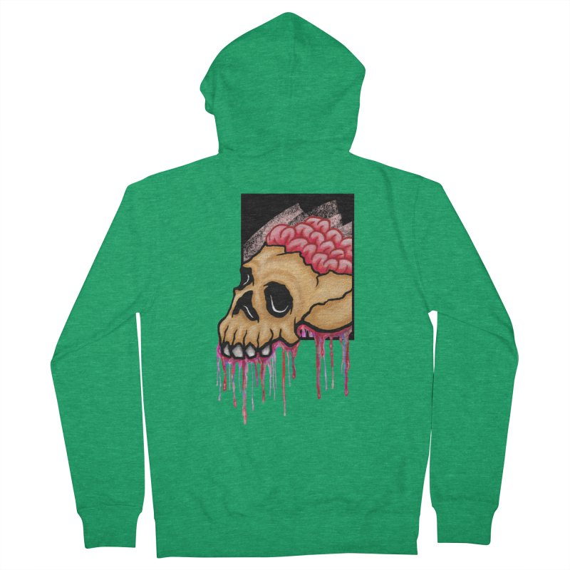 Skull and Brain Men's Zip-Up Hoody by rskamesado's Artist Shop