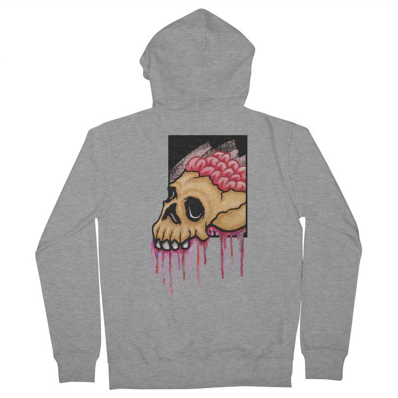 Skull and Brain Men's Zip-Up Hoody by rskamesado's Artist Shop