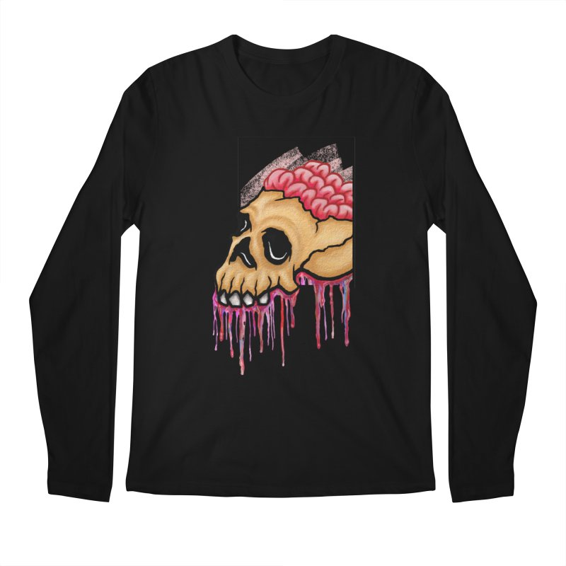 Skull and Brain Men's Longsleeve T-Shirt by rskamesado's Artist Shop