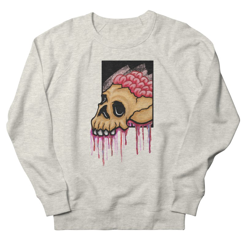 Skull and Brain Men's Sweatshirt by rskamesado's Artist Shop