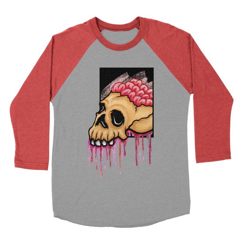 Skull and Brain Women's Baseball Triblend T-Shirt by rskamesado's Artist Shop