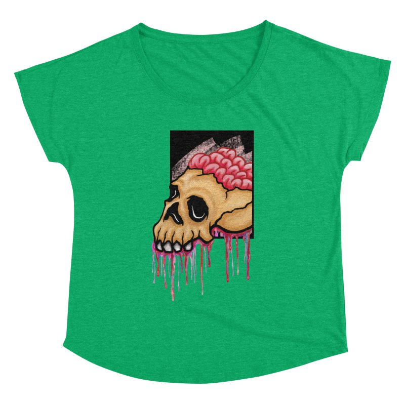 Skull and Brain Women's Dolman by rskamesado's Artist Shop