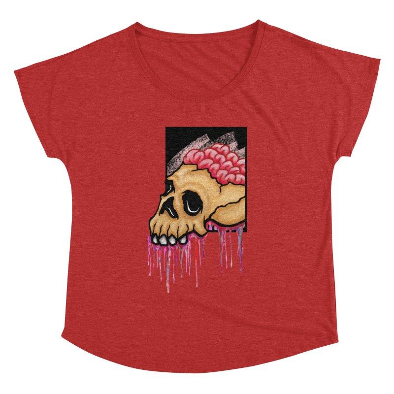Skull and Brain Women's Dolman by rskamesado's Artist Shop