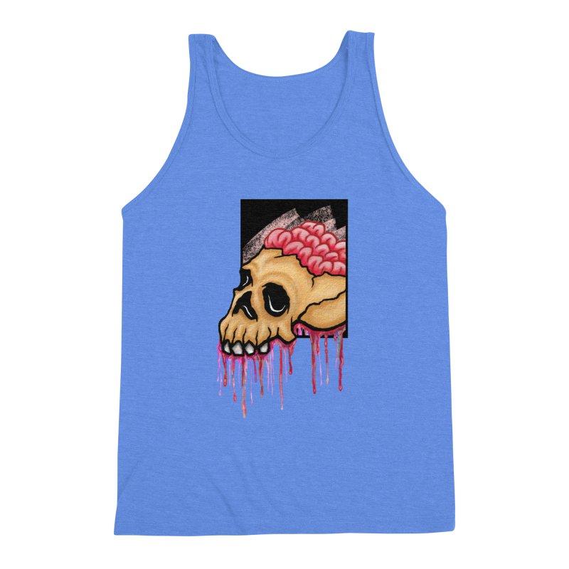 Skull and Brain Men's Triblend Tank by rskamesado's Artist Shop