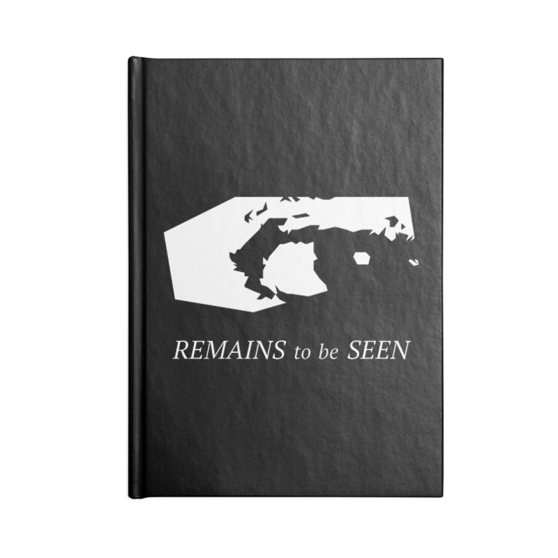 Remains to be Seen Accessories Blank Journal Notebook by DEATHFORMS