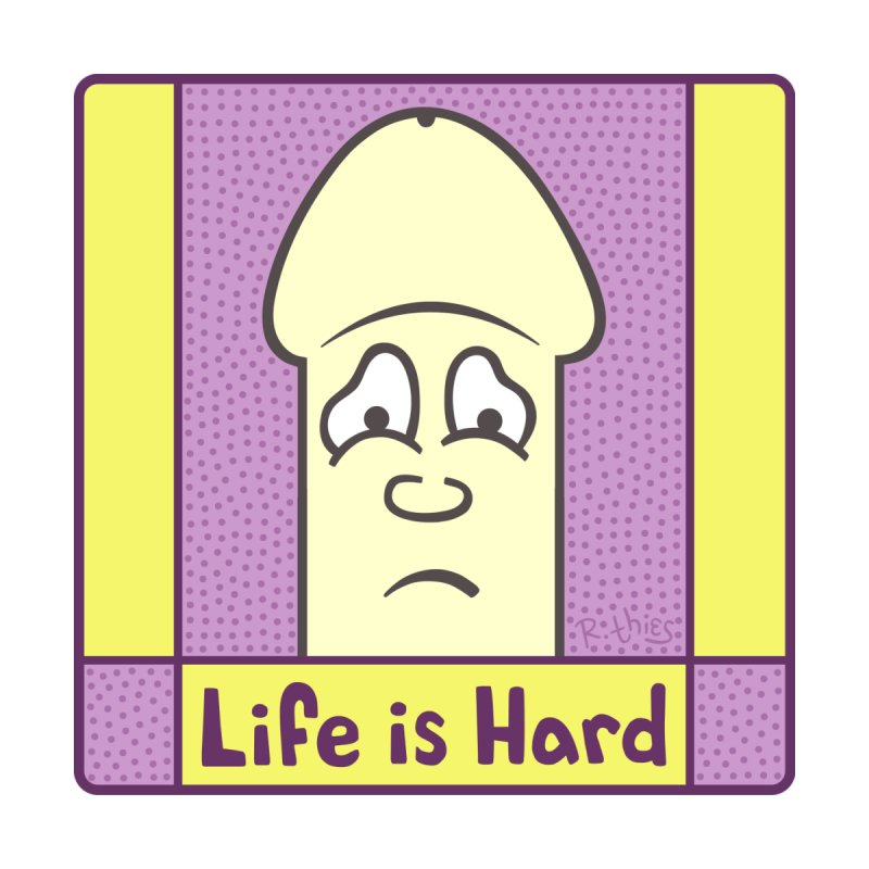 Life is Hard (SQ) Home Throw Pillow by R. THiES: Cartoonism