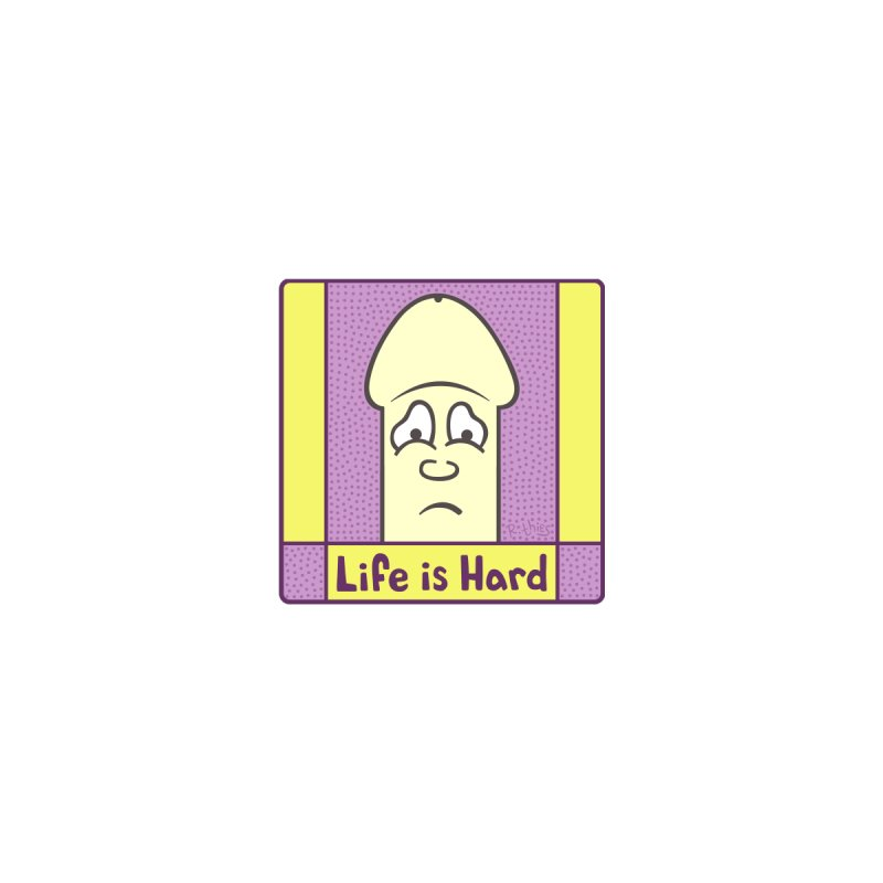 Life is Hard (SQ) Accessories Bag by R. THiES: Cartoonism