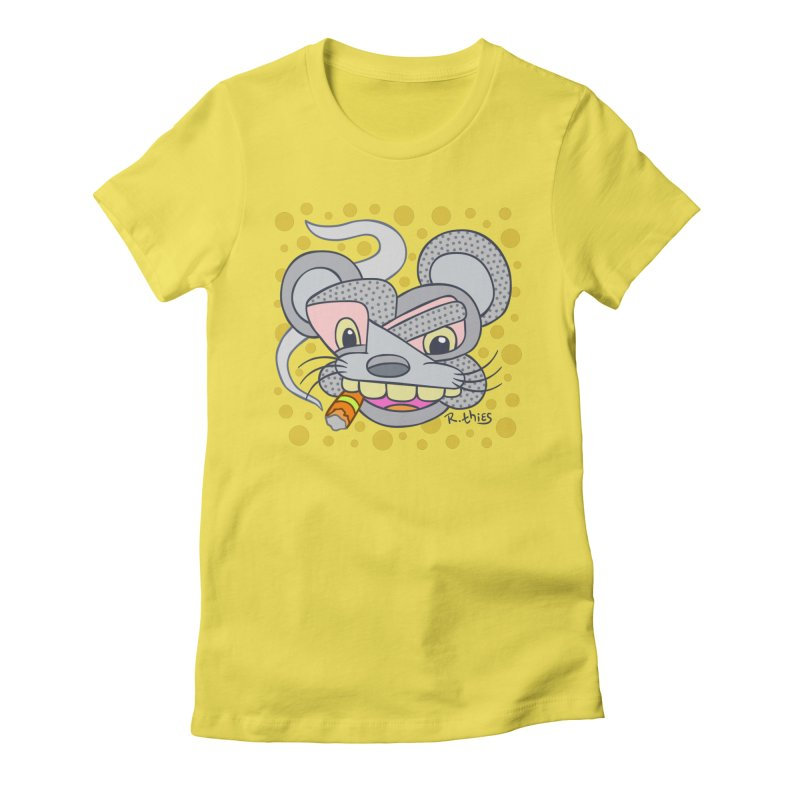 Big Cheese Women's Fitted T-Shirt by R. THiES: Cartoonism