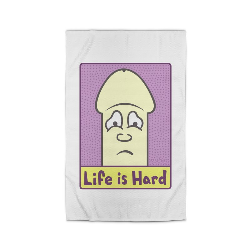 Life is Hard (Rectangle) Home Rug by R. THiES: Cartoonism