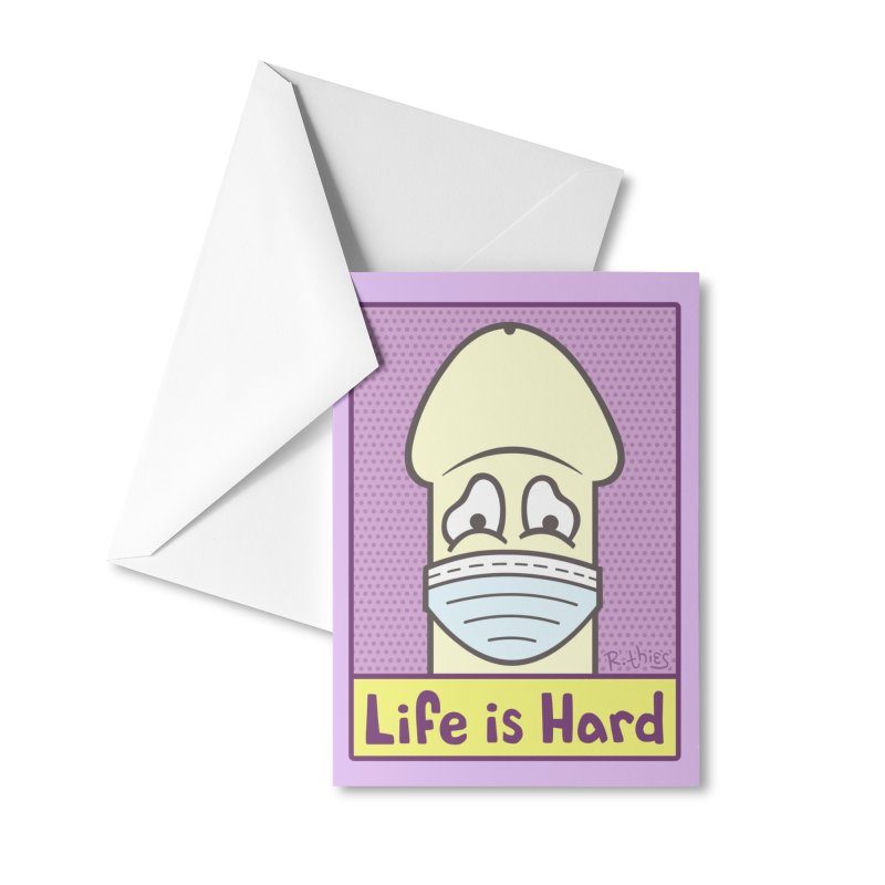 LIFE IS HARD Peendemic Journal (Purple) Accessories Greeting Card by R. THiES: Cartoonism