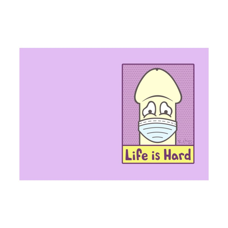 LIFE IS HARD Peendemic Journal (Purple) Accessories Notebook by R. THiES: Cartoonism