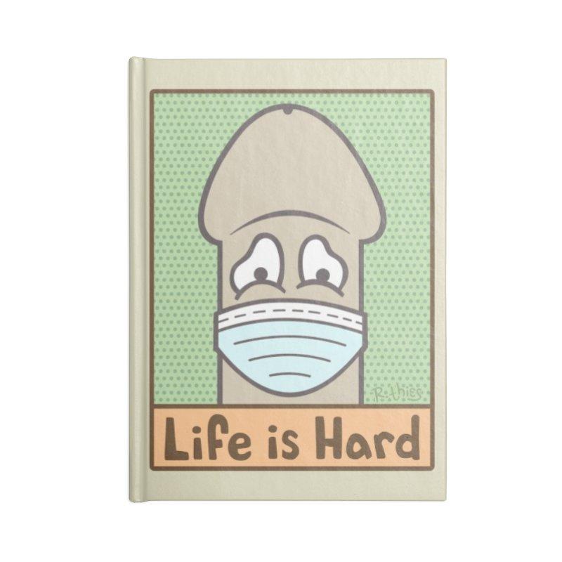 LIFE IS HARD Peendemic Journal (Beige) Accessories Notebook by R. THiES: Cartoonism