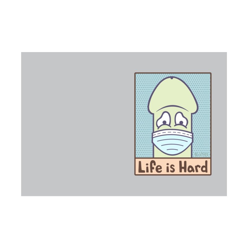 LIFE IS HARD Peendemic Journal (Gray) Accessories Notebook by R. THiES: Cartoonism