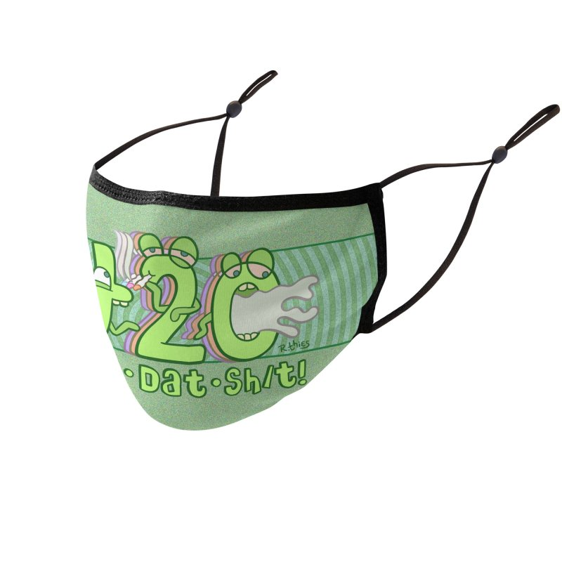 PASS DAT SH/T! Accessories Face Mask by R. THiES: Cartoonism