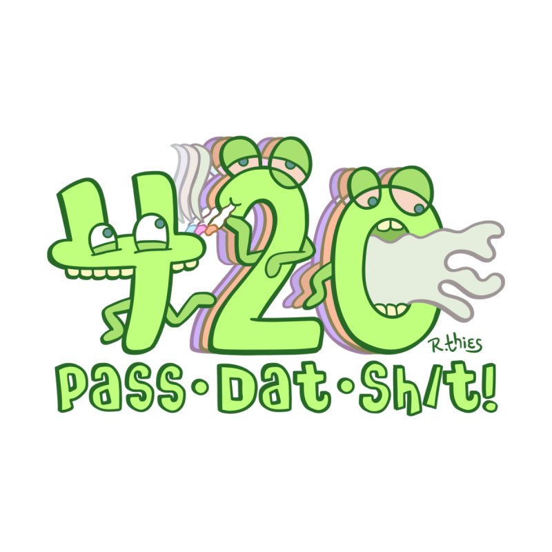 PASS DAT SH/T! Men's Longsleeve T-Shirt by R. THiES: Cartoonism