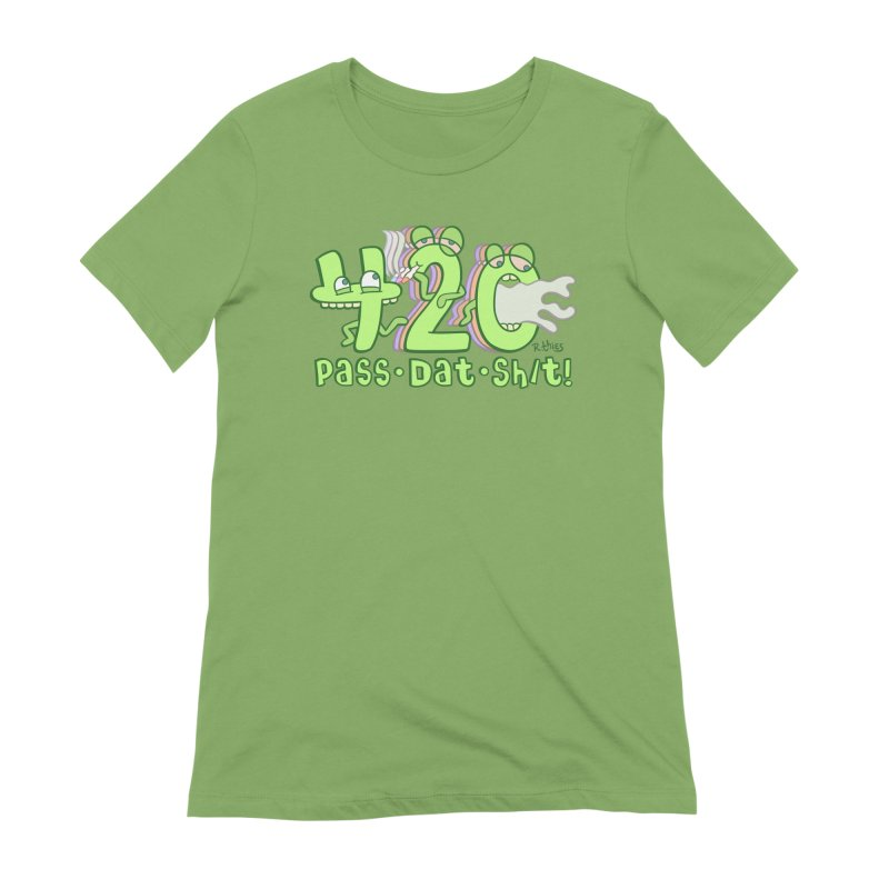 Pass Dat Sh/t! in Women's Extra Soft T-Shirt Avocado by R. THiES: Cartoonism