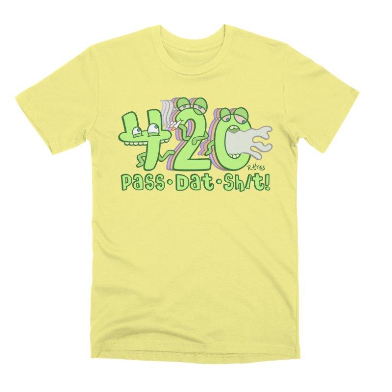 Pass Dat Sh/t! Men's Premium T-Shirt by R. THiES: Cartoonism