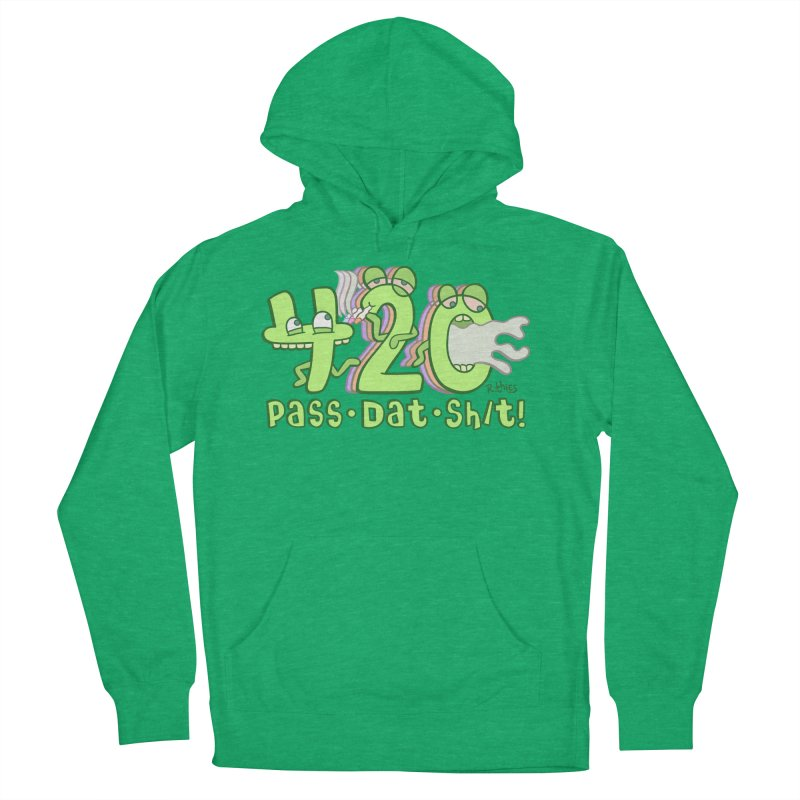 Pass Dat Sh/t! in Men's French Terry Pullover Hoody Heather Kelly by R. THiES: Cartoonism