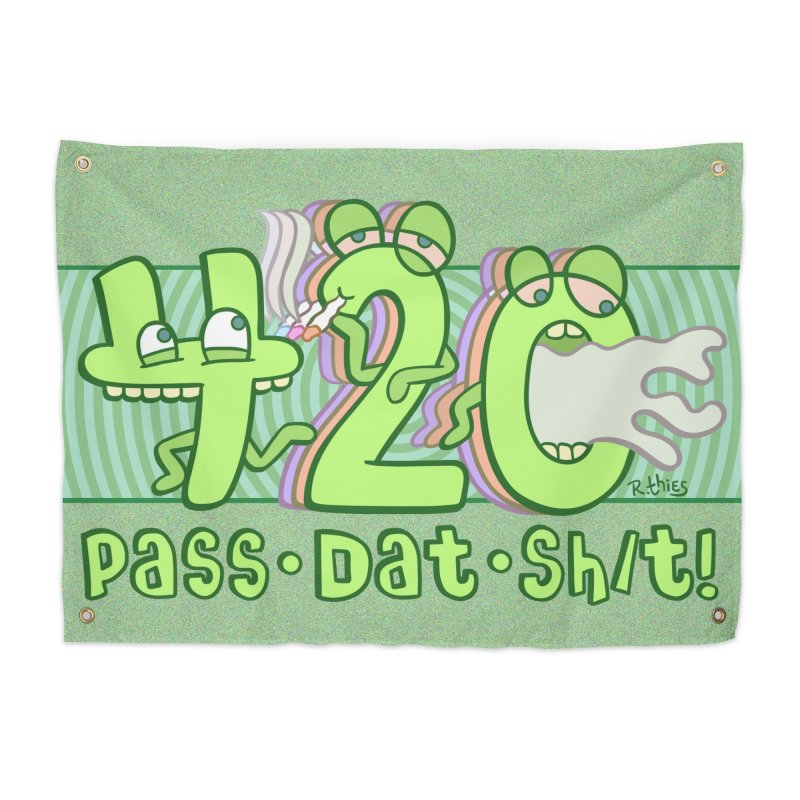 PASS DAT SH/T! Home Tapestry by R. THiES: Cartoonism