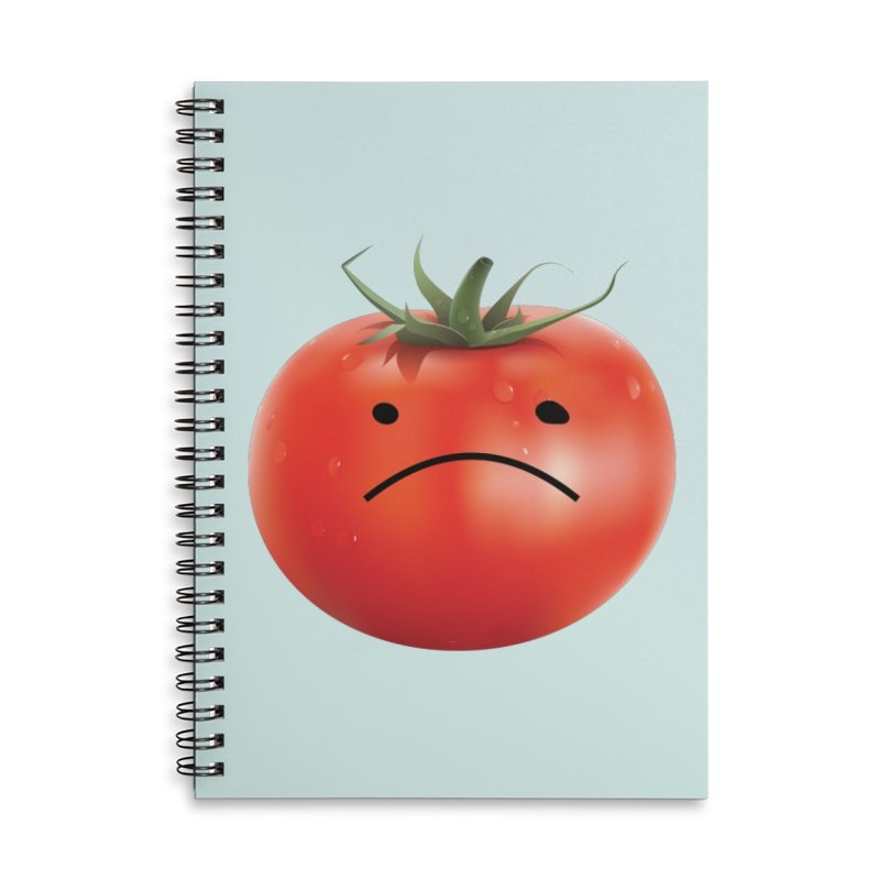 Mad Tomato Accessories Lined Spiral Notebook by rubberdanpants