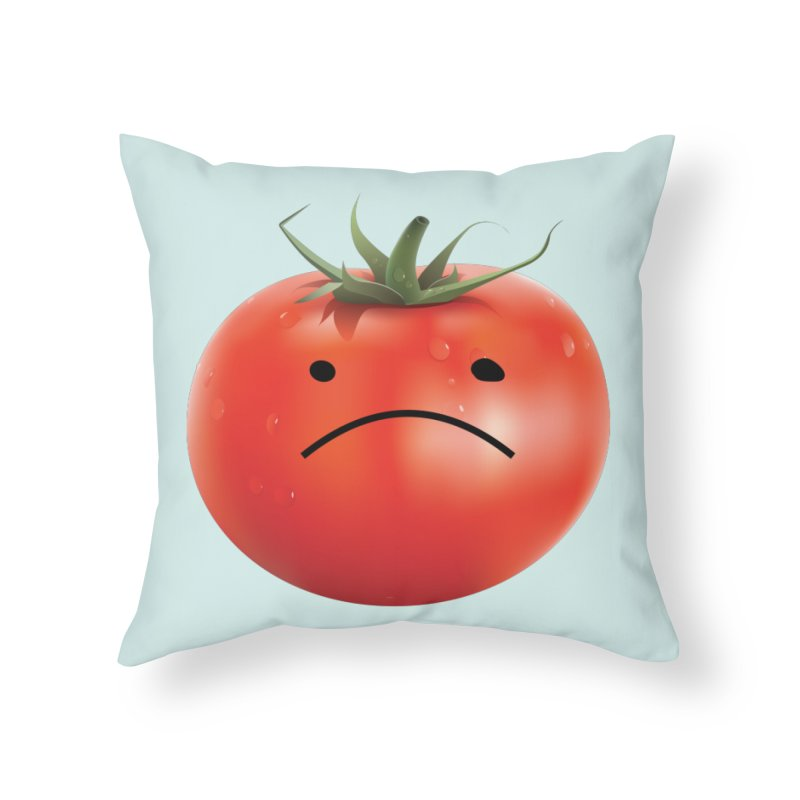Mad Tomato Home Throw Pillow by rubberdanpants