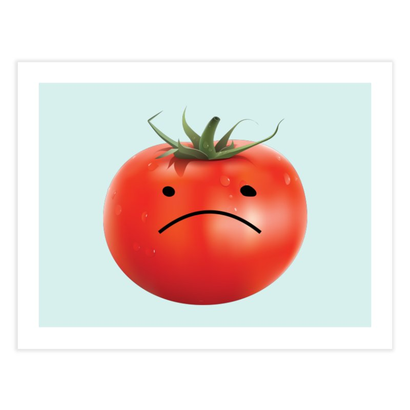Mad Tomato Home Fine Art Print by rubberdanpants