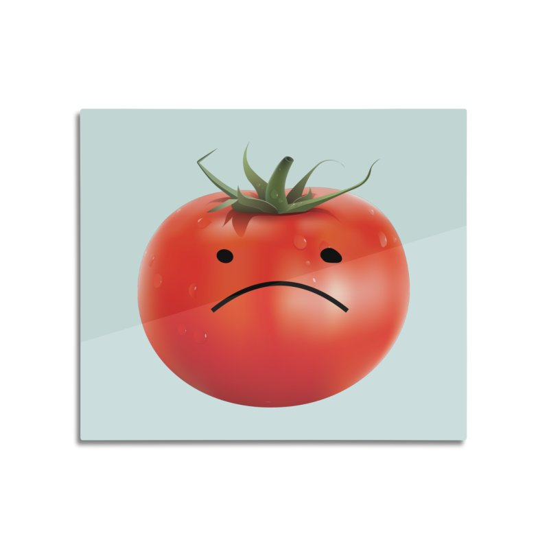 Mad Tomato Home Mounted Aluminum Print by rubberdanpants