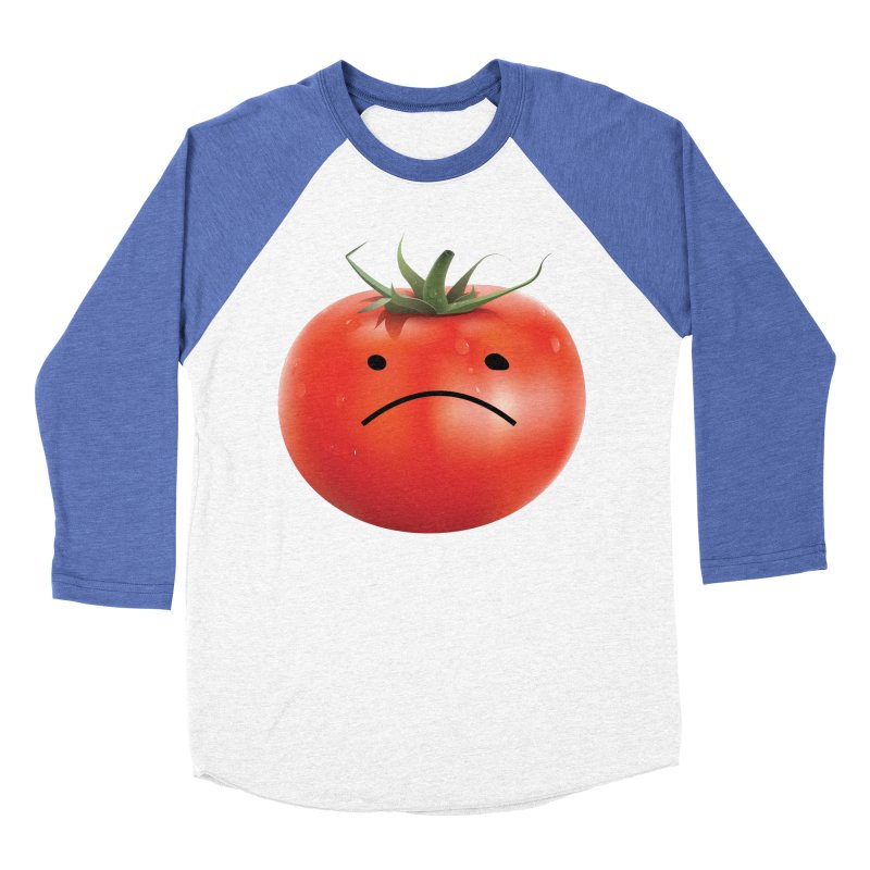 Mad Tomato Men's Baseball Triblend Longsleeve T-Shirt by rubberdanpants