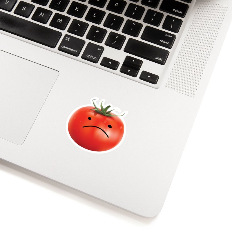 Mad Tomato in White Sticker by rubberdanpants