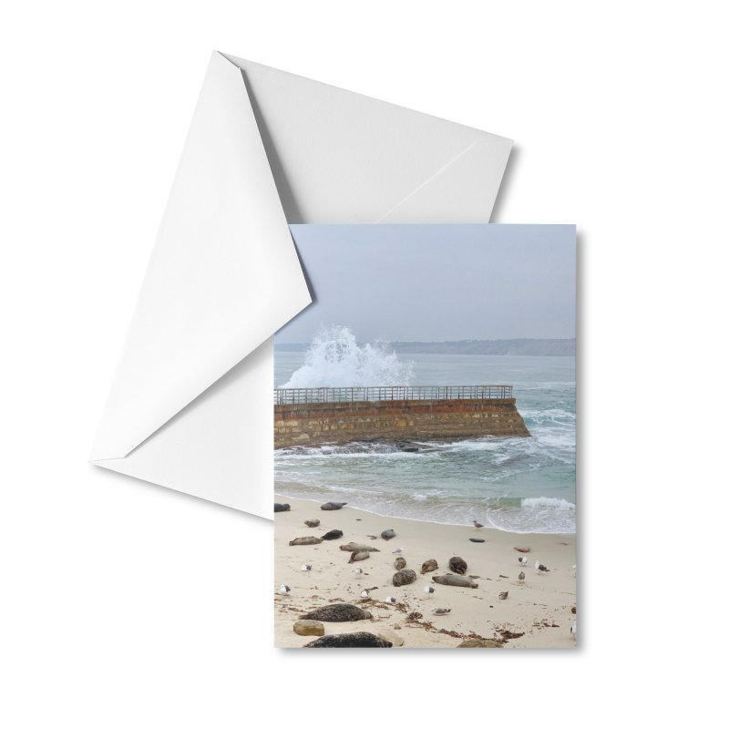 La Jolla Accessories Greeting Card by rubberdanpants