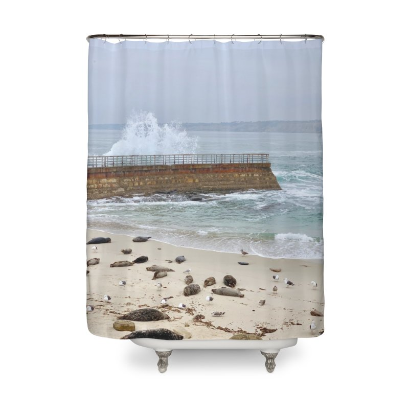 La Jolla Art Prints Shower Curtain by rubberdanpants