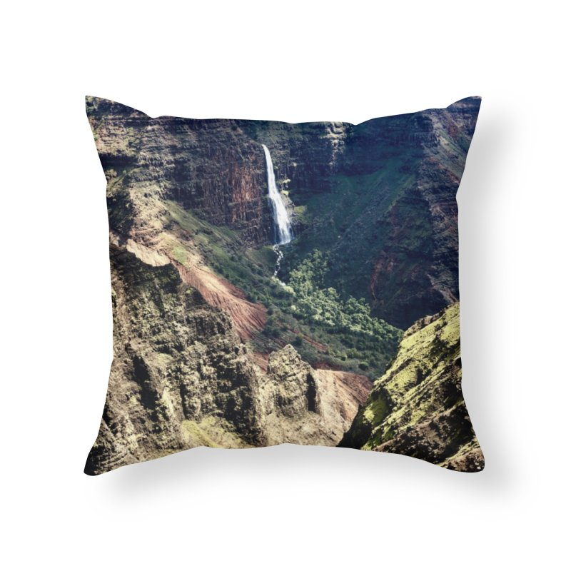 Kauai Art Prints Throw Pillow by rubberdanpants