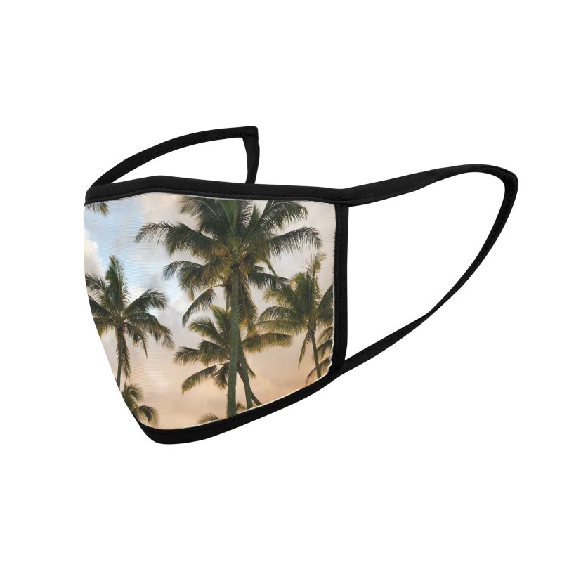 Hawaiian Palms Accessories Face Mask by rubberdanpants