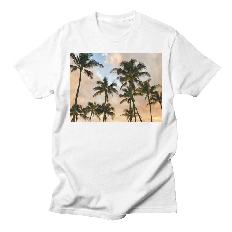 Hawaiian Palms Men's T-Shirt by rubberdanpants